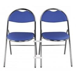 Chaise pliante LUXE avec tissus M1 (classé au feu)