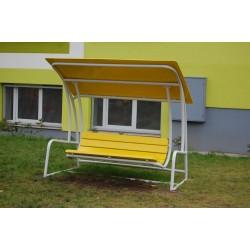 Banc public avec toit