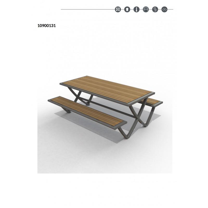 table pique nique en stratifi compact pour espaces publics. Black Bedroom Furniture Sets. Home Design Ideas
