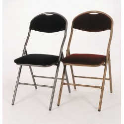 Lot de 50 chaises de spectacle finition tissus rouge