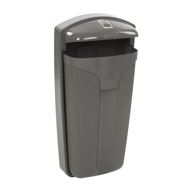 Poubelle cendrier ext rieur combin corbeille cendrier for Poubelle plastique exterieur