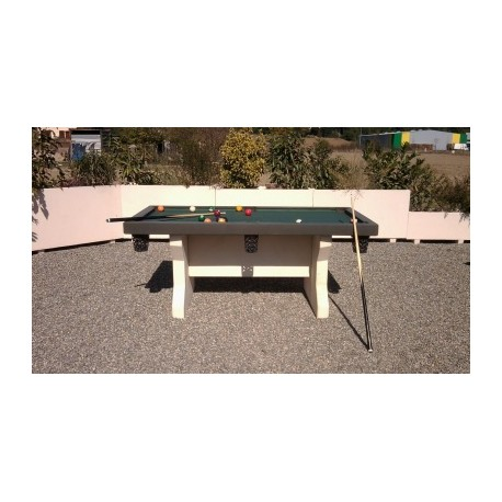 Table de billard exterieure table de billard en beton for Table pour exterieur