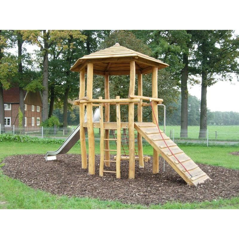 structure de jeux en bois de robinier jeux en robinier. Black Bedroom Furniture Sets. Home Design Ideas