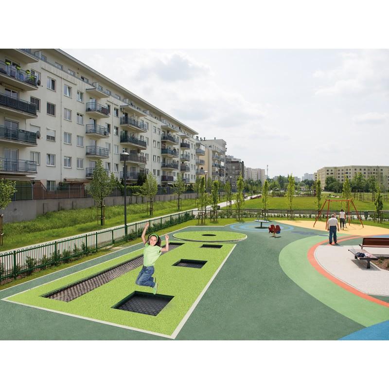 trampolines professionnels pour aires de jeux ext rieurs. Black Bedroom Furniture Sets. Home Design Ideas