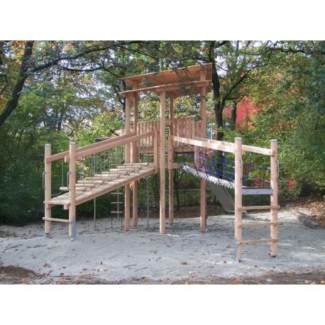 jeux exterieurs en bois de robinier tour avec toboggan en bois de robinier. Black Bedroom Furniture Sets. Home Design Ideas