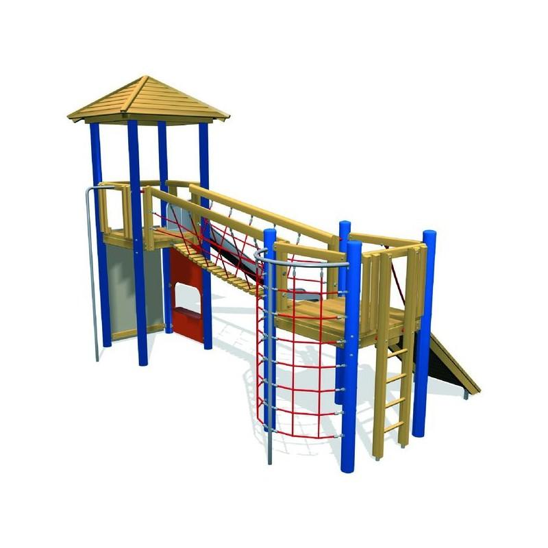 tourelles en bois de robinier ch teau jeu ext rieur pour enfants. Black Bedroom Furniture Sets. Home Design Ideas