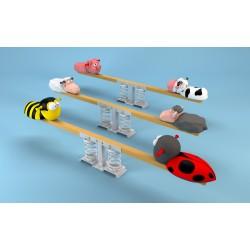 Balançoire horizontale sur ressort (coccinelle et abeille)