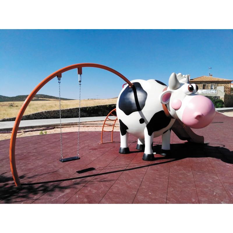 aire de jeux animaux de la ferme jeux pour enfants vache. Black Bedroom Furniture Sets. Home Design Ideas