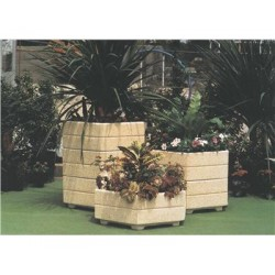 Jardinière hexagonale