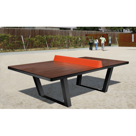 Table de ping pong en mat riaux composites table de ping pong ext rieur - Table ping pong exterieur beton ...