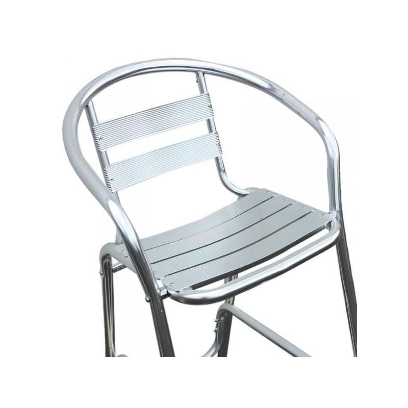 tabouret de bar aluminium tabouret aluminium chaise haute en alu. Black Bedroom Furniture Sets. Home Design Ideas