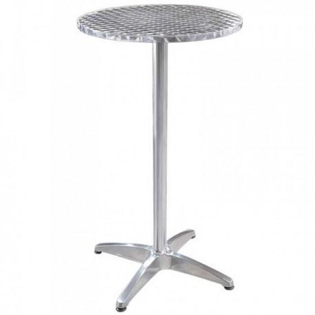 table mange debout table de bar mange debout table haute aluminium. Black Bedroom Furniture Sets. Home Design Ideas