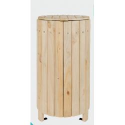 Corbeille bois pour collectivité