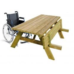 Lot de 2 tables pique-nique bois robuste