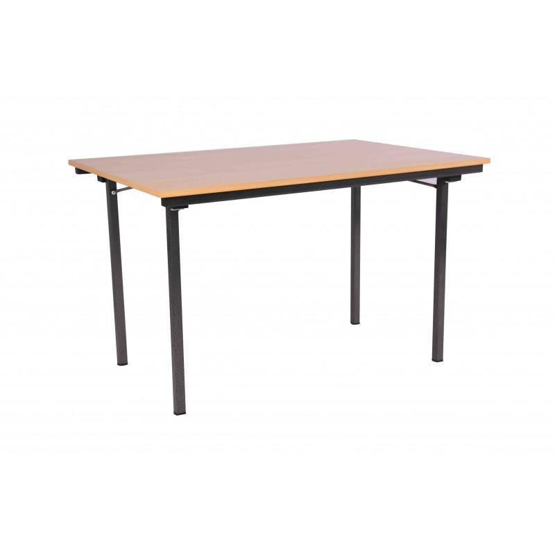 Table avec 4 pieds pliants table de restauration table - Pied de table telescopique reglable 80 120 cm ...