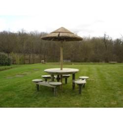 Table pique-nique bois ronde