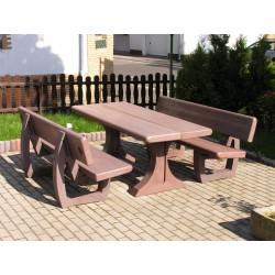 Table pique-nique ROBUSTA PMR avec deux bancs
