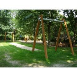 Tyrolienne bois de robinier 40 m