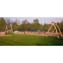 Tyrolienne bois de robinier 50 m