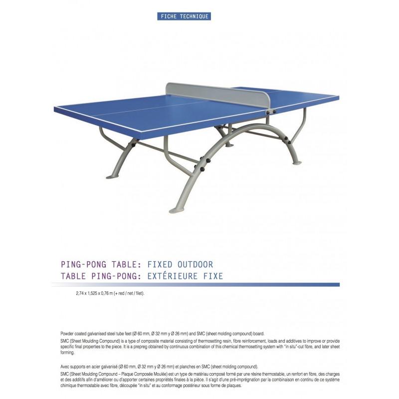 table de ping pong ext rieure fixe entreprise collectivite jeux aires de jeux mobilier. Black Bedroom Furniture Sets. Home Design Ideas