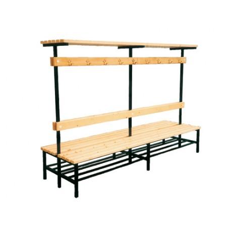 banc mobile double avec vestiaires entreprise collectivite jeux aires de jeux mobilier. Black Bedroom Furniture Sets. Home Design Ideas