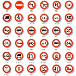 Signalisation d'interdictions - Type B