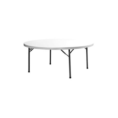 table professionnelle ronde diamètre 182 cm