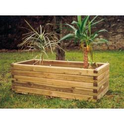 Jardinière rustique rectangulaire