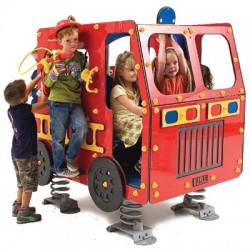 Camion de pompier sur ressort