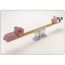 """Balançoire horizontale """"la vache et le cochon"""""""