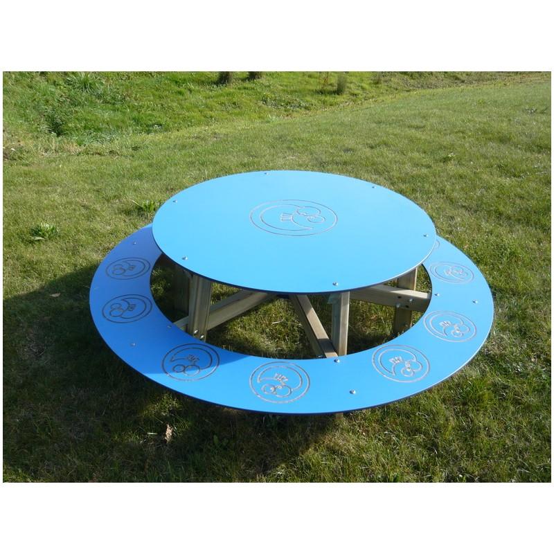 Table pique nique pour enfants table pique nique ronde - Table ronde pour enfant ...