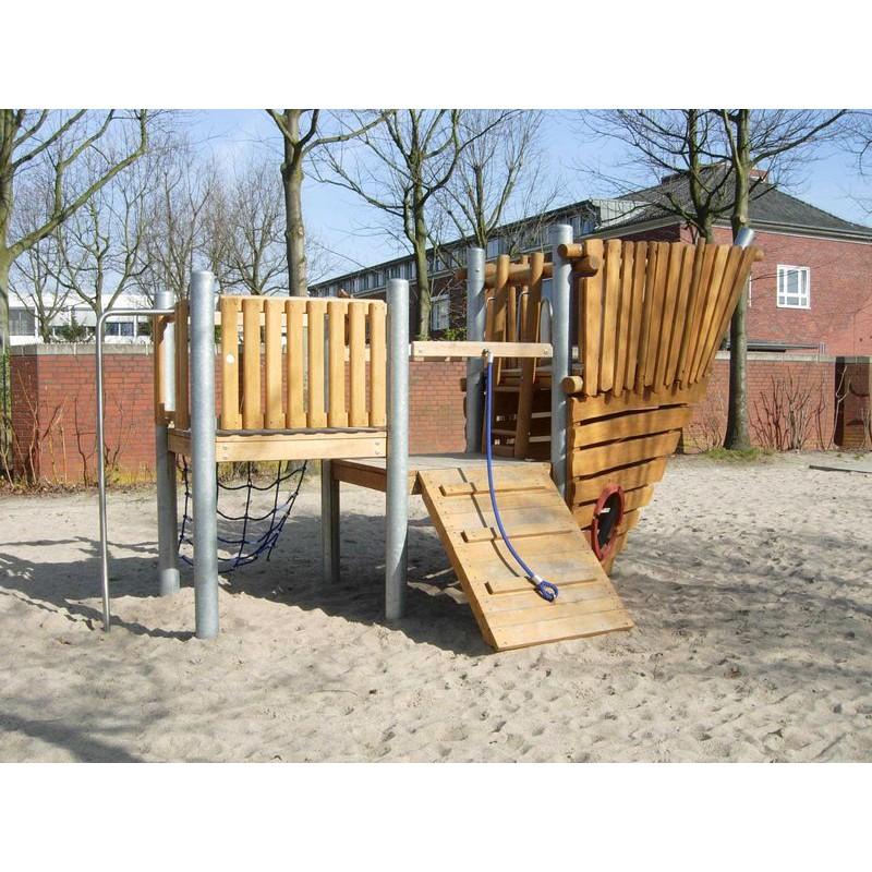 Parcours en bois de robinier