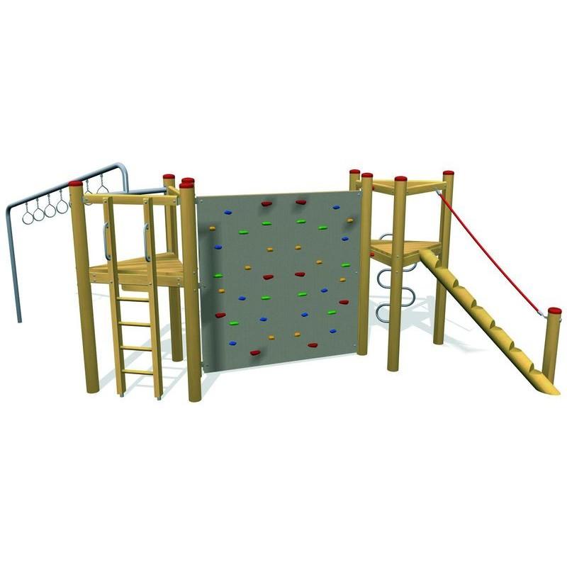 Structure d 39 escalade en bois de robinier for Structure de bois