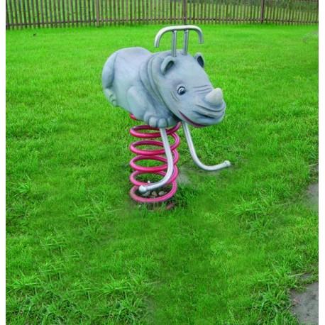 Rhinocéros jeu sur ressort