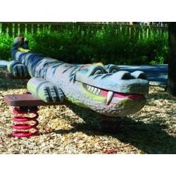 Crocodile géant jeu sur ressort