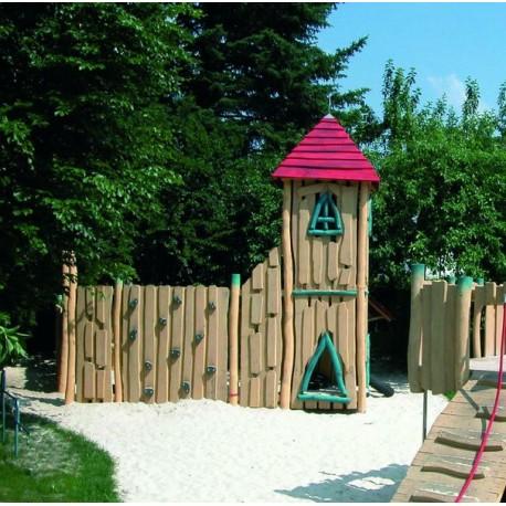 structure de jeux pour enfants en bois de robinier. Black Bedroom Furniture Sets. Home Design Ideas