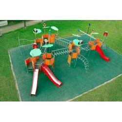 La jungle inox aire de jeux pour espaces publics