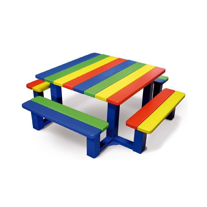 Table pique nique pour cole maternelle - Table pique nique pour enfant ...