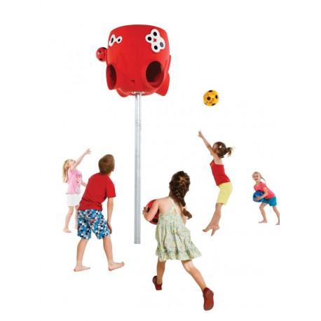 Panier de ballons pour école