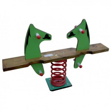 Bascule chevaux jeu sur ressort 2 places