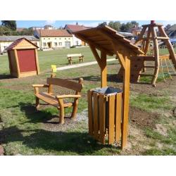 Banc public en bois de robinier avec ou sans accoudoirs