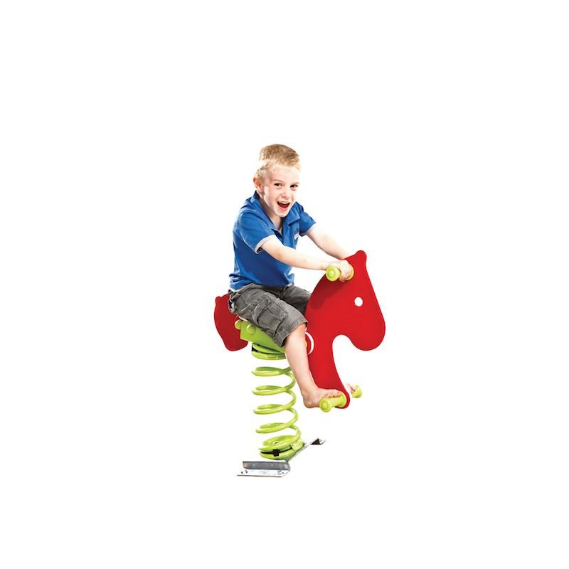 cheval rouge jeu sur ressort entreprise collectivite. Black Bedroom Furniture Sets. Home Design Ideas