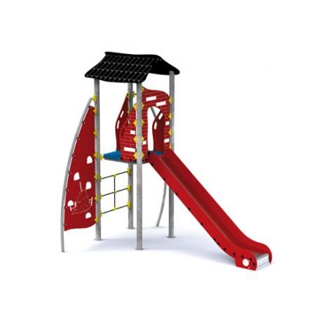 structure de jeux rouge