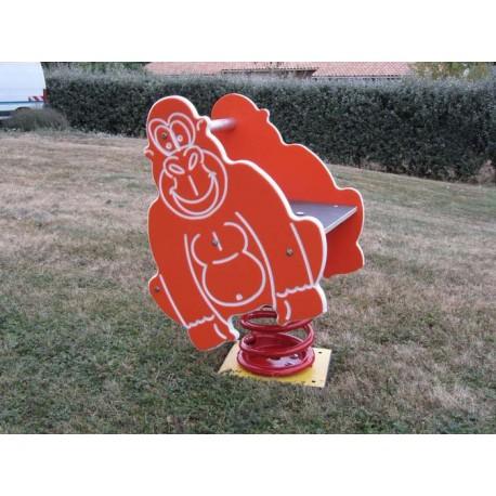 Gorille jeu sur ressort