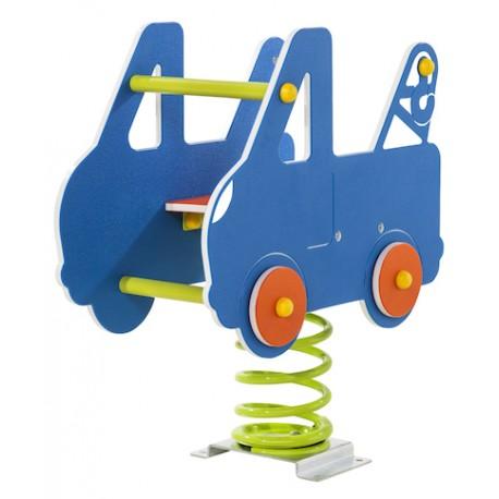 jeu sur ressort voiture voiture pour aire de jeux ext rieurs. Black Bedroom Furniture Sets. Home Design Ideas