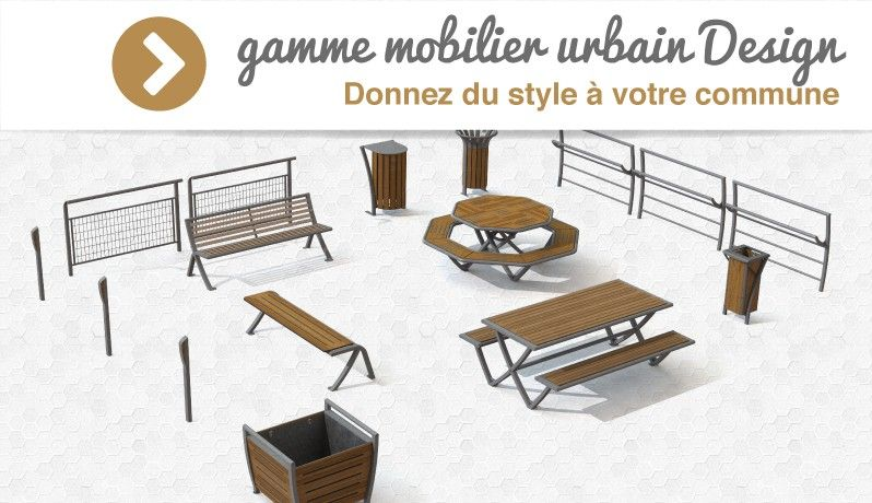 gamme mobilier urbain Design