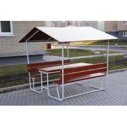 Table pique-nique adultes avec son toit intégré