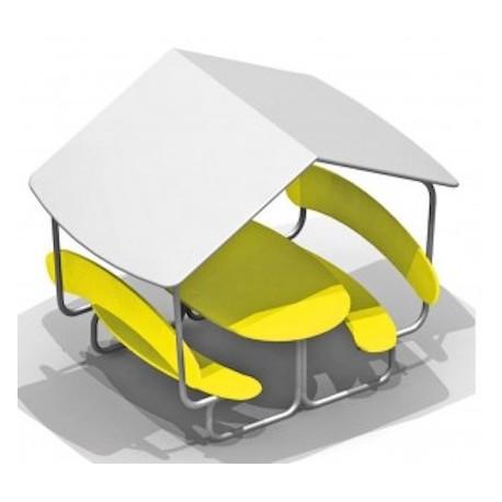 table de pique nique avec toit table pique nique pour les espaces publics. Black Bedroom Furniture Sets. Home Design Ideas