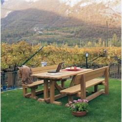 Table de pique-nique en bois de pin massif