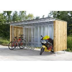 Abri à vélos en tôle longueur 4 m